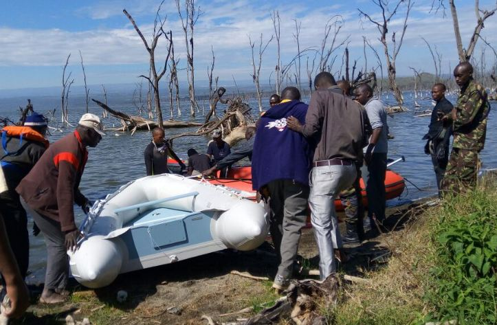 Helicopter crushes in Lake Nakuru